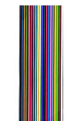 Flachbandleitung bunt verzinnt n x LiY 0,14, 2 Adern