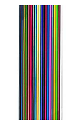 Flachbandleitung bunt verzinnt n x LiY 0,25, 2 Adern