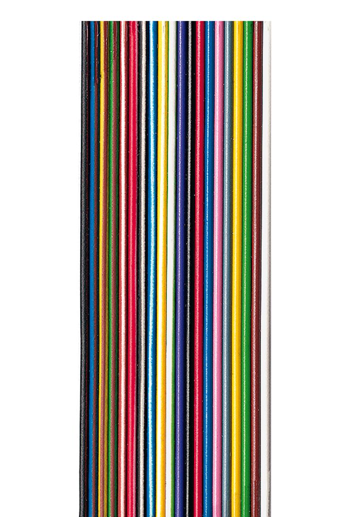 Flachbandleitung AWG 28 bunt, UL 2651, 10 Adern