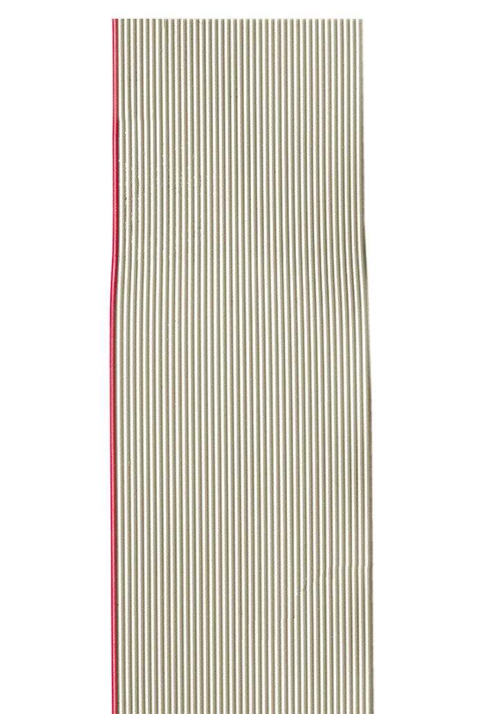 Flachbandleitung AWG 28 grau, UL 2651, 9 Adern