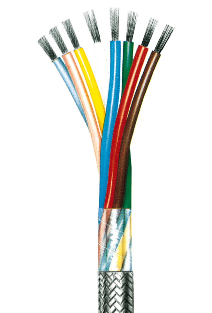 Flexible Steuerleitung, geschirmt, PVC isoliert LiYCY 0,75, 2 Adern