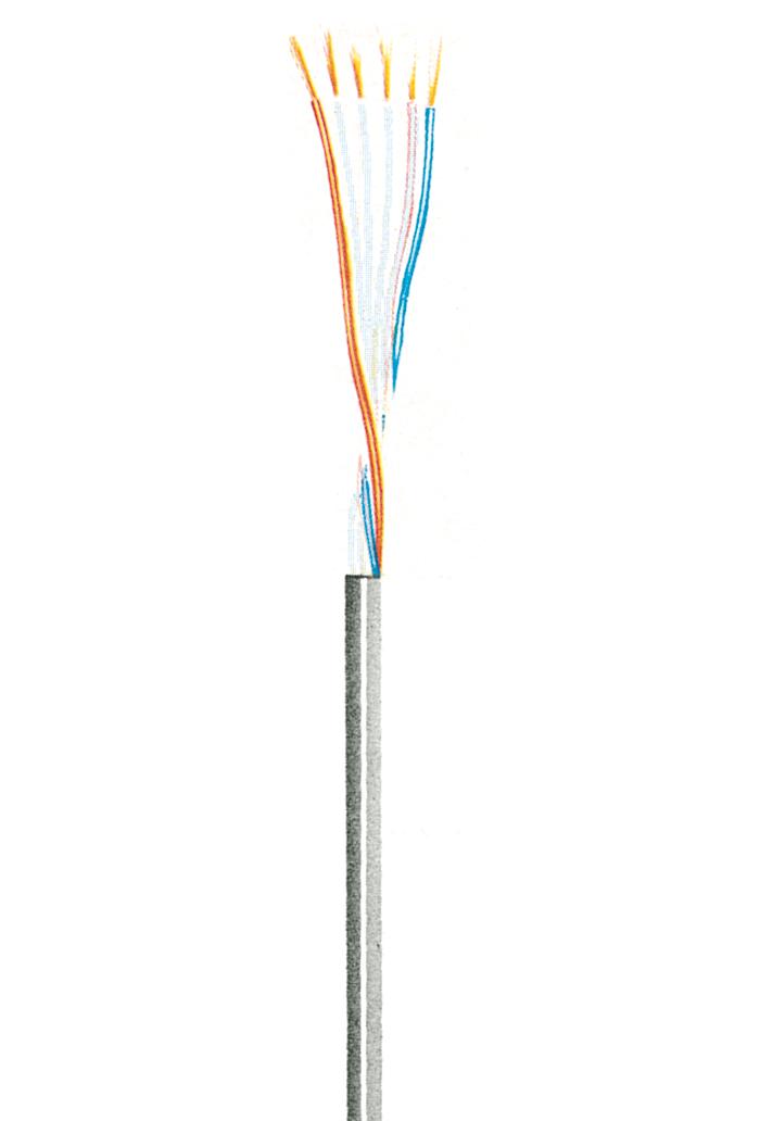 Hochflexible Steuerleitung LifYY 0,04, 3 Adern