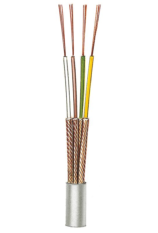 Einzeln abgeschirmte kapazitätsarme Mikrofonleitung NF6 (4 x 0,08), 4 Adern