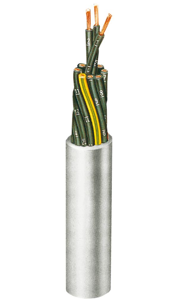 Ölbeständige Starkstrom-(500 V) Steuerleitung H05VV5-F-JZ 0,75, 3 Adern