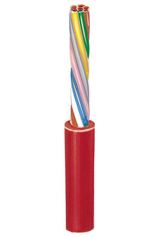 Silikonisolierte hochhitzebeständige Steuerleitung ohne Schutzleiter Si-SL-0  0,5, 2 Adern