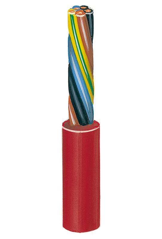 Silikonisolierte hochhitzebeständige Steuerleitung Si-SL-J 0,75, 5 Adern