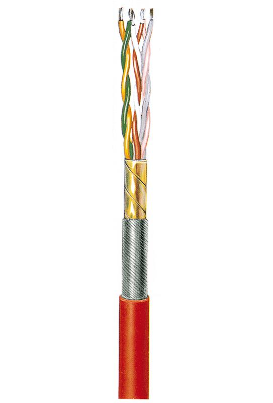 Verbindungsleitung, geschirmt, silikonisoliert ASS-paarig 0,14, 2 Adern