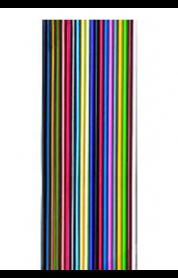 Flachbandleitung bunt verzinnt n x LiY 0,14