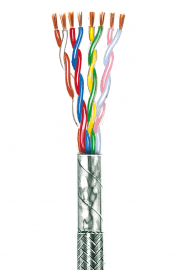Flexible Anschlussschnüre, paarverseilt, geschirmt LiYCY 0,14