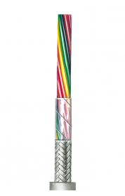 Flexible lichtgraue Steuerleitung, geschirmt AWG 24 C