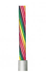 Flexible lichtgraue Steuerleitung, ungeschirmt AWG 24