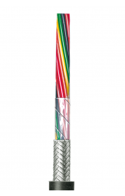 Flexible schwarze Steuerleitung, geschirmt AWG 20 C UL 2464/1061